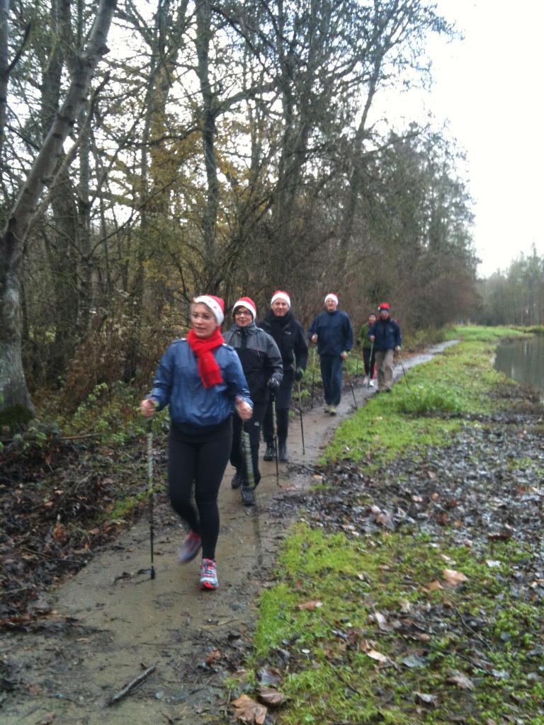 Séance marche nordique le dimanche 22 décembre 2013