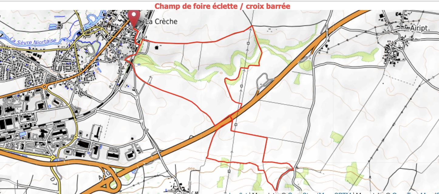 ECLETTE CROIX BARRÉE N° 664933